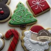 Collage de galletas navideñas