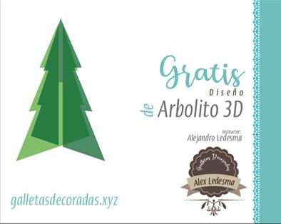 Arbolito de navidad cortador gratis 3D