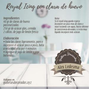 Receta de Royal Icing con clara de huevo pasteurizada
