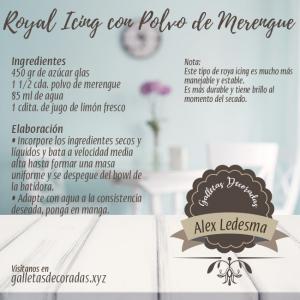 Receta de Royal Icing con polvo de merengue