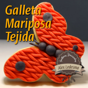 galleta mariposa tejida