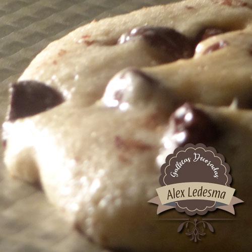 galletas pasas y chocolate
