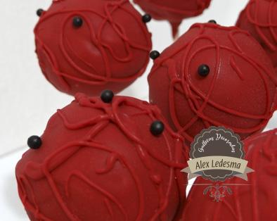 Cakepops ladybug