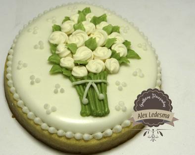 Galleta Bouquet de flores para celebración día de las madres